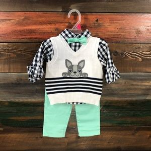 Other - Boys Size 18 months French Bulldog outfit